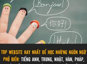 Tổng hợp các website học ngoại ngữ